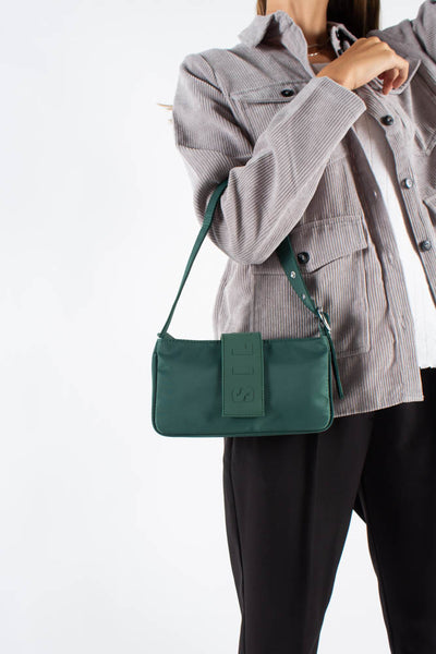 Yasmin Shoulder Bag - Dark Green - Silfen Studio