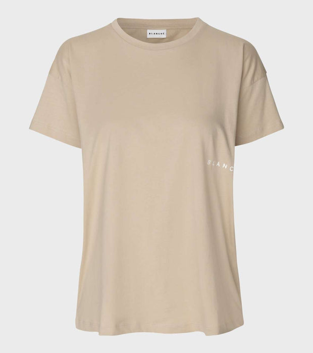 beige basic Main Light T-shirt Humus Blanche 3