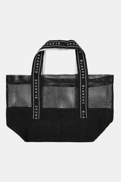 Tote logo Bag - Sort - Blanche