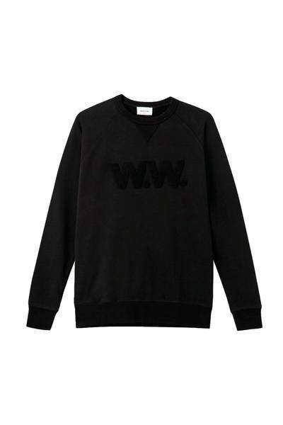 Hester Sweatshirt - Black - Wood Wood