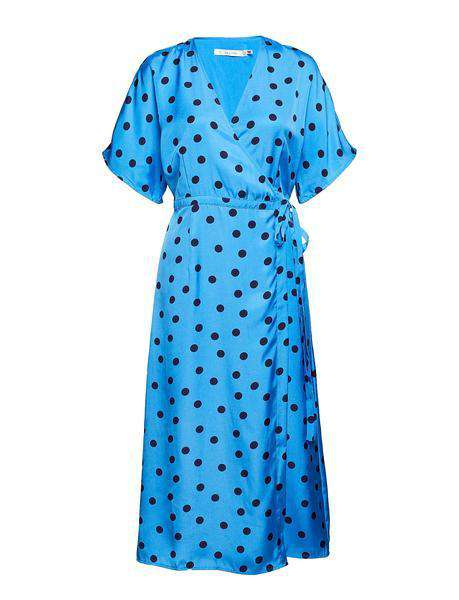 Elsie wrap dress - Blue/Navy dot fra Gestuz pack