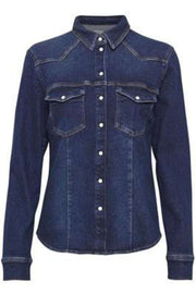 Astrid Shirt - Denim blue - Gestuz 3