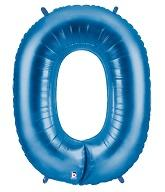 "34"" Large Foil Number Balloon (Blue) - USA Party Store"