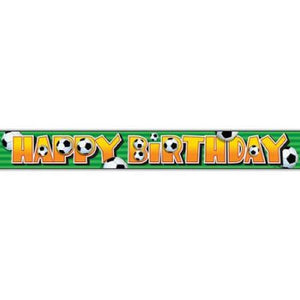 12ft Foil Soccer Birthday Banner - USA Party Store