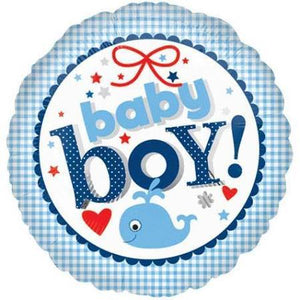 "18"" Baby Boy Foil Balloon - USA Party Store"
