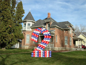 Custom Yard Number Balloon - 2 - USA Party Store