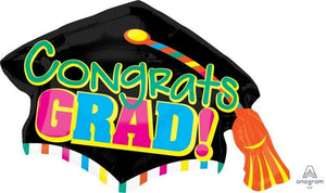 Congrats Grad Cap Balloon - USA Party Store