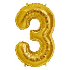 Number Balloon (Gold) - USA Party Store
