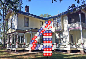 Custom Yard Number Balloon - 4 - USA Party Store