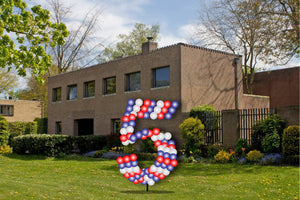 Custom Yard Number Balloon - 5 - USA Party Store
