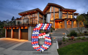 Custom Yard Number Balloon - 6 - USA Party Store