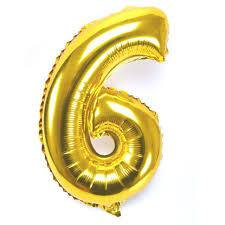 "34"" Large  Foil Number Balloon (Gold) - USA Party Store"