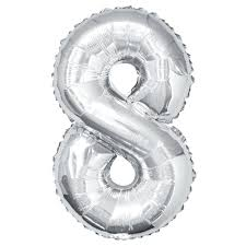 Number Balloon (Silver) - usa-party-store