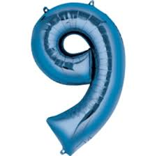 Number Balloon (Blue) - USA Party Store