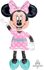 "Airwalker Minnie Mouse 54"" Balloon - USA Party Store"