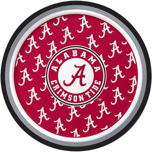 "Alabama Crimson Tide Dessert Plates, 7"" - 8 count - USA Party Store"