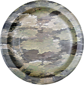 "American Hero 7"" Camo Plate - USA Party Store"