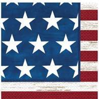 Americana Beverage Napkins 16 ct Lunch Paper Napkins - USA Party Store