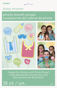 Baby Shower Photo Props Set (10) - USA Party Store