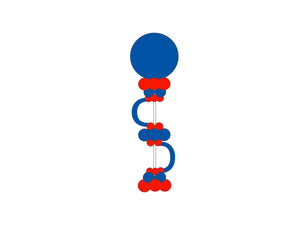 Moon Balloon Column  *** Pick-up or Delivery only *** - USA Party Store