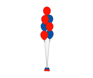7 Balloons Floor Bouquet Column  *** Pick-up or Delivery only *** - USA Party Store