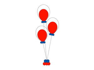 "16"" Balloon Centerpiece Double Stuff  *** Pick-up or Delivery only *** - USA Party Store"
