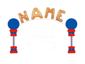 Table Top Name Balloon Arch - USA Party Store