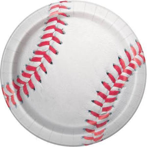 Baseball Lunch Plates 8 Count - USA Party Store