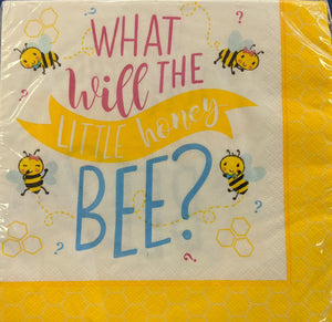 Little Honey Bee Lunch Napkins 16ct6 1/2in x 6 1/2in Paper Napkins - USA Party Store