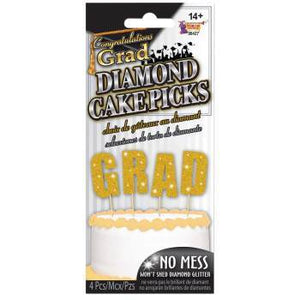 Graduation Cake Picks Cake Topper - USA Party Store
