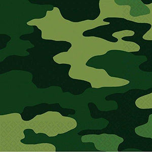 Camouflage Luncheon Napkins, - USA Party Store