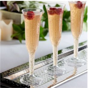 Champagne Flutes 5oz One Piece 8ct - USA Party Store