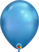 "11"" inflated Chrome Latex Balloons - (Optional Hi-Float to last 2 to 3 days) - USA Party Store"