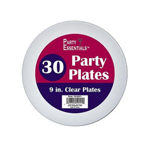 9″ PARTY PLATES – CLEAR 30 CT. - USA Party Store