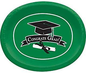 Congrats Grad 12-inch Oval Plates - USA Party Store