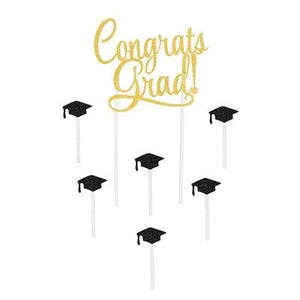 Congrats Graduation! Cake Topper - USA Party Store