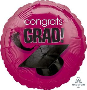Cranberry Congrats Grad Balloon - USA Party Store
