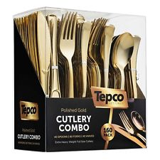 Plastic Gold Cutlery Set 2 - USA Party Store