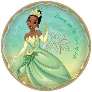 DISNEY PRINCESS ONCE UPON A TIME TIANA DINNER PLATES - USA Party Store