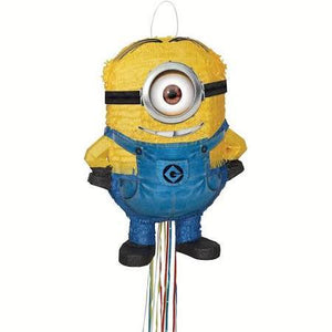 Despicable Me Pinata - Minion Stuart Pull String - usa-party-store