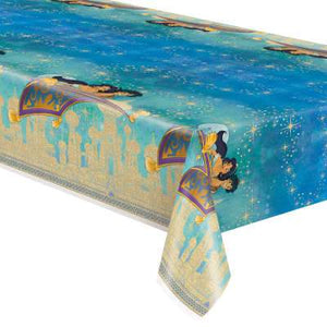 "Disney Aladdin Rectangular Plastic Table Cover 54""x84"" - USA Party Store"