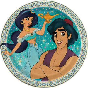 "Disney Aladdin Round 7"" Dessert Plates 8ct - USA Party Store"