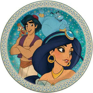 "Disney Aladdin Round 9"" Dinner Plates 8ct - USA Party Store"