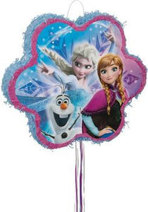 Snowflake Disney Frozen Pull String Pinata - USA Party Store