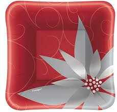 Elegant Red Appetizer Plate - USA Party Store