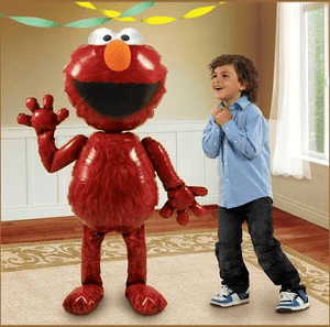 Elmo Air Walker Balloon, Red, 54 inches - USA Party Store
