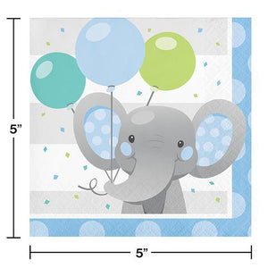 Enchanted Elephant Blue Napkins - USA Party Store