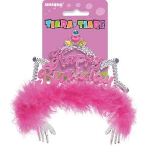 Fancy Happy Birthday Tiara - USA Party Store
