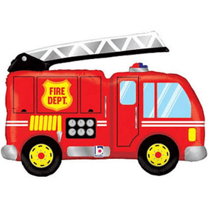 "40"" Fire Truck Shape Foil Balloon - USA Party Store"
