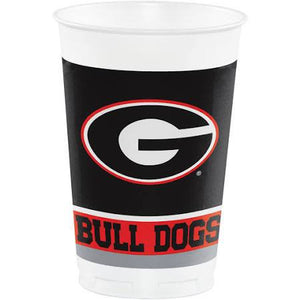 Georgia Bulldogs Plastic Cups (8) - USA Party Store